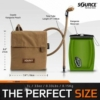 Kép 3/5 - Source™ Kangaroo 1L Collapsible Canteen with Pouch (Coyote)