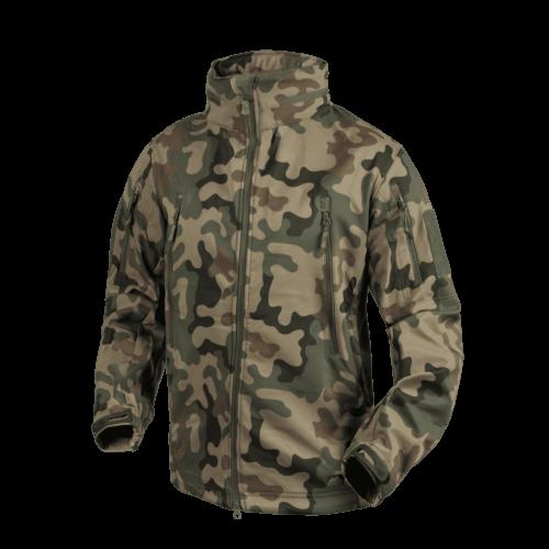 Helikon-Tex® - GUNFIGHTER Jacket - Shark Skin Windblocker (PL Woodland)